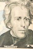 Portrait de Jackson Billet de vingt dollars plan rapproché américain de président images libres de droits