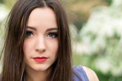 Portrait de jeune brune photos libres de droits