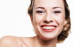 Sourire avec les croisillons dentaires Image libre de droits