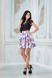 Portrait de jeune femme dans la jupe, dans le studio image stock