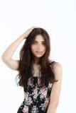Portrait de jeune femme dans le corset Photographie stock