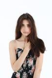 Portrait de jeune femme dans le corset Image libre de droits