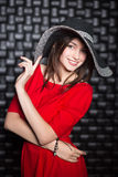 Portrait de jeune femme de sourire Photographie stock