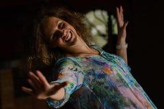 Portrait de jeune femme, heureux images libres de droits