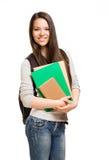 Jeune fille mignonne d'étudiant. Photographie stock