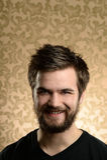 Portrait de jeune homme avec la barbe Images stock