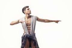 Portrait de jeune homme beau avec le demi corps nu Photo libre de droits