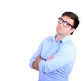 Portrait de jeune homme d'affaires beau sur le fond blanc Photo libre de droits