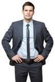 Portrait de jeune homme d'affaires bel. Photos libres de droits
