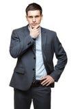 Portrait de jeune homme d'affaires bel. Images stock