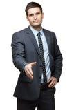 Portrait de jeune homme d'affaires bel. Photo stock