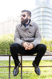 Portrait de jeune homme d'affaires de hippies Image stock