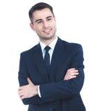 Portrait de jeune homme d'isolement sur le fond blanc Photo libre de droits