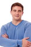 Portrait de jeune homme dans l'équipement occasionnel Photo libre de droits