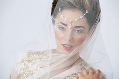Portrait de jeune mariée Images libres de droits