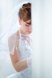 Portrait de jeune mariée Photos stock