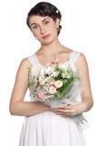 Portrait de jeune mariée Image stock