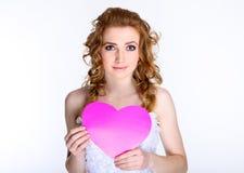 Portrait de jeune mariée heureuse Photo libre de droits