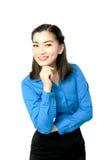 Portrait de jeune sourire heureux de femme d'affaires de l'Asie images libres de droits