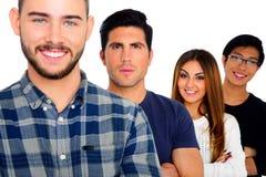 Portrait de jeunes étudiants heureux Images stock
