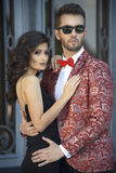 Portrait de jeunes couples élégants dans l'amour Photos libres de droits