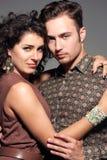 Portrait de jeunes couples Photographie stock libre de droits