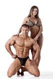 Portrait de jeunes couples de forme physique Images stock