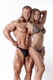 Portrait de jeunes couples de forme physique Photo stock