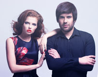 Portrait de jeunes couples de luxe dans l'amour Photos libres de droits