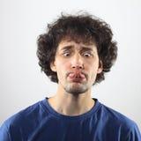 Portrait de jeunes hommes fous Images libres de droits