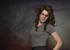 Portrait de joli, souriant, femme supérieure photographie stock