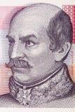 Portrait de Josip Jelacic von Buzim de compte photographie stock libre de droits