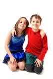 Portrait de jumeaux (frère et soeur) Photo libre de droits