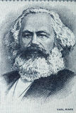 Portrait de Karl Marx de vieil argent allemand photo libre de droits
