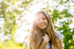 Portrait de l'adolescence de fille images libres de droits