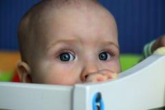Portrait de l'enfant de froncement de sourcils Photographie stock libre de droits