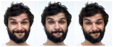 Portrait de l'homme avec la barbe Image libre de droits
