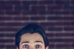 Portrait de l'homme avec les sourcils augmentés Photo libre de droits