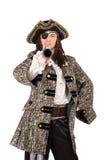 Portrait de l'homme dans un costume de pirate images libres de droits