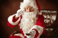 Portrait de l'homme en Santa Claus Costume Images libres de droits