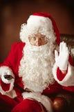 Portrait de l'homme en Santa Claus Costume Photos libres de droits