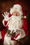 Portrait de l'homme en Santa Claus Costume Images stock