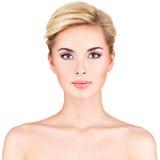 Portrait de la belle femme Images stock