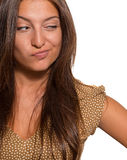 Portrait de la belle femme adroite Photo stock