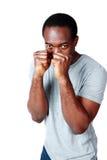 Portrait de la boxe africaine d'homme Photos stock