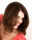 Portrait de la femme heureuse Image libre de droits