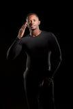 Portrait de la jeune pose d'afro-américain Photos stock
