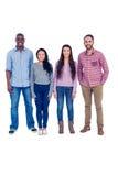 Portrait de la position multi-ethnique d'amis Image stock