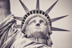 Portrait de la statue de la liberté images stock