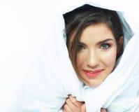 Portrait de lit de femme Photographie stock